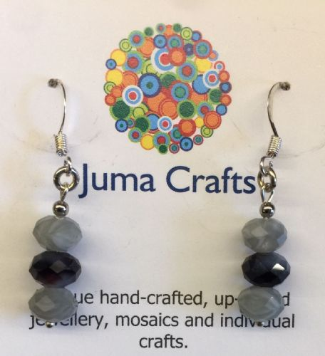 Grey & Purple Agate Earrings
